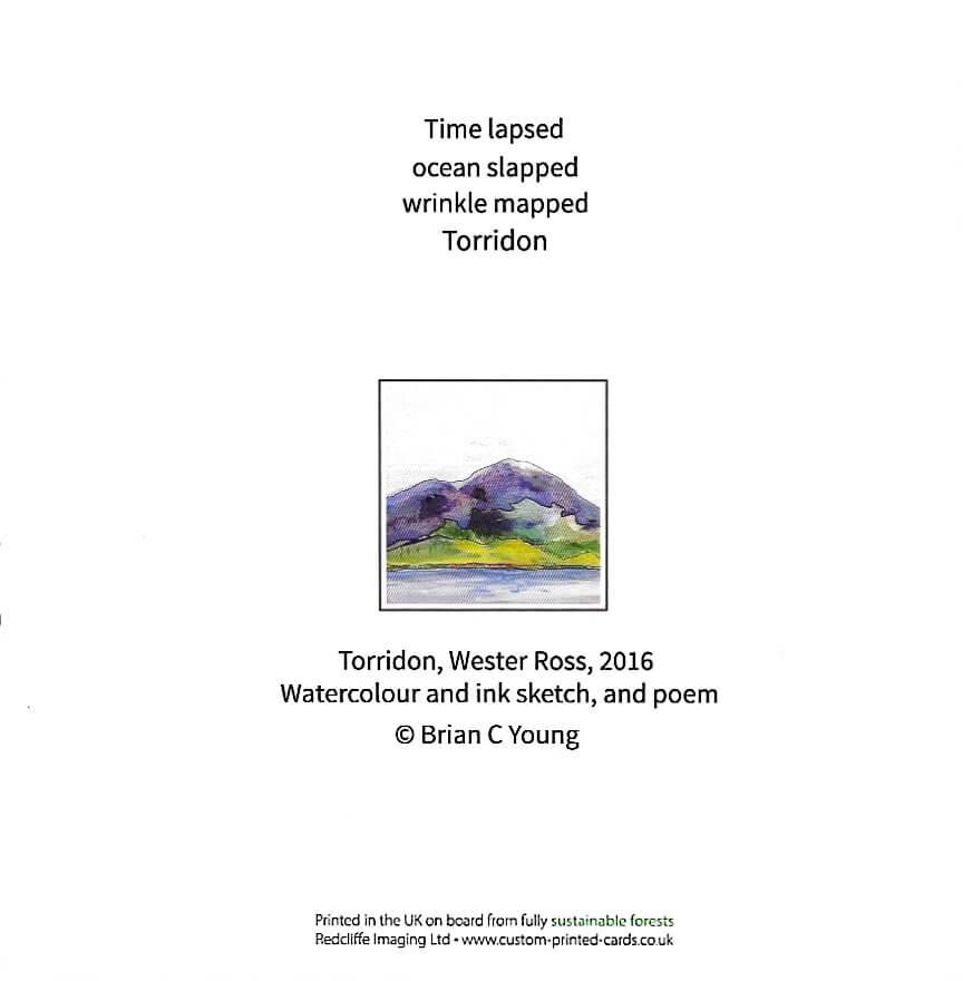 Across Loch Torridon Wester Ross, with poem - back