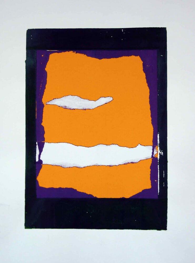 """Cloudscape #1""; Acrylic on paper; 70x55 cms; original artwork for sale, framed £200"