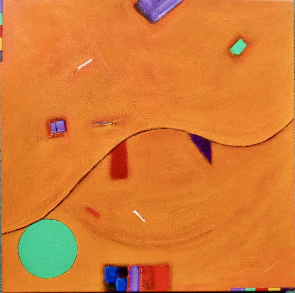 """""""In Repose""""; acrylic on canvas; 61 x 61 x 4.5 cms; original artwork for sale £500"""