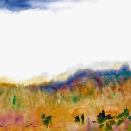 Greeting Card: Land of Sunshine and Mist with poem Dreams of the Land on back
