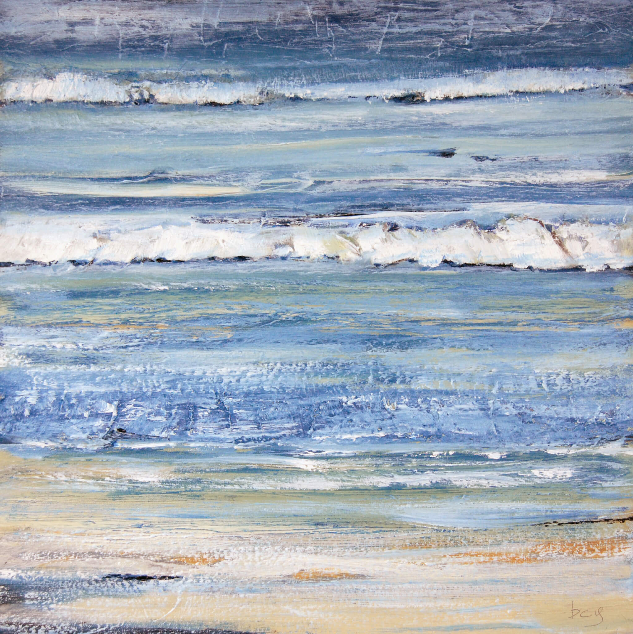 'Perfect Day No.2'; Oil on block canvas; 50x50 cms; For Sale £200