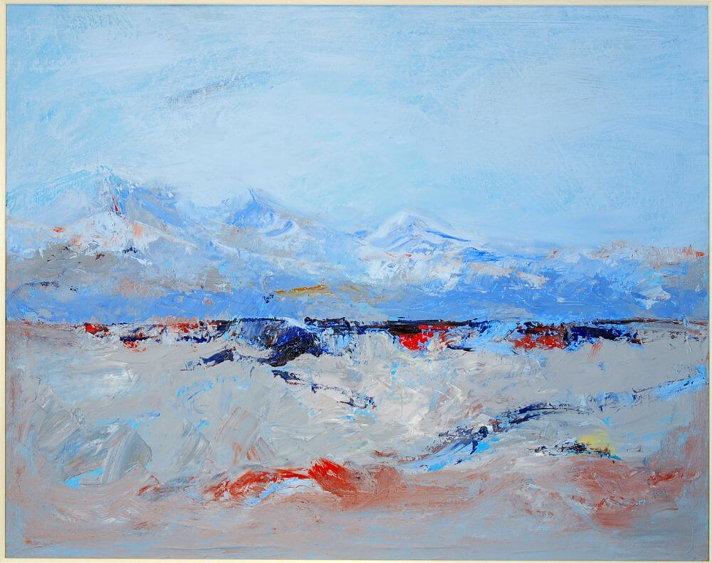 """""""Towards the Corries"""";  beeswax, canvas. 70 x 50 cms SOLD"""